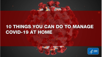 10 things you can do to manage COVID 19 at home.